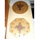 Orologio in legno pirografato