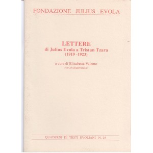 Lettere di Julius Evola a Tristan Tzara