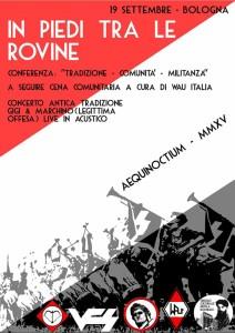 IN PIEDI TRA LE ROVINE- Aequinoctium MMXVP