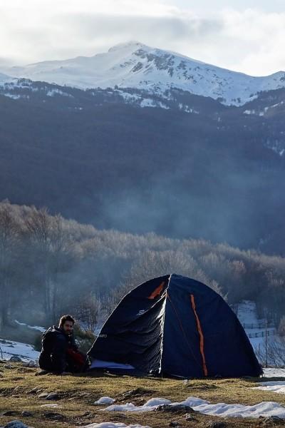 campo invernale montagna